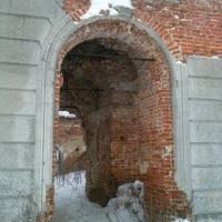 Вход через колокольню